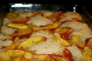 peach-in-oven